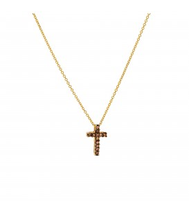 Κολιέ με μικρό σταυρό Χρυσό