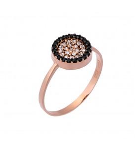 Δαχτυλίδι στόχος από ροζ χρυσό