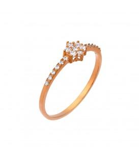 Δαχτυλίδι ροζέτα από ροζ χρυσό
