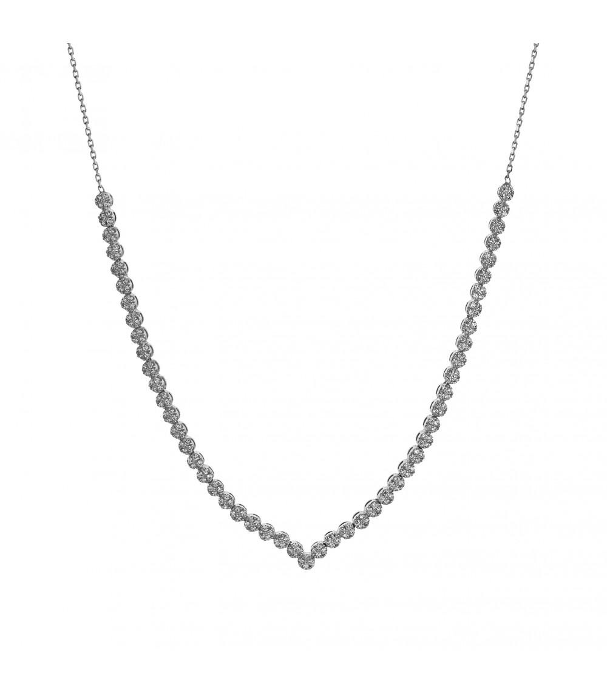 Ριβιέρα Κολιέ από λευκό χρυσό - www.kosmima.info 8c78f6228f8