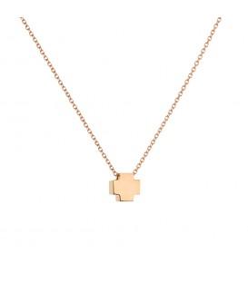 Κρεμαστό ισόπλευρο σταυρουδάκι ροζ χρυσό