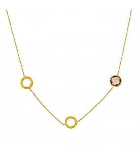 Χειροποίητο Κολιέ με κύκλους από κίτρινο χρυσό