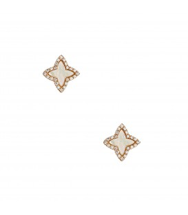 Σκουλαρίκια fashion ροζ χρυσά