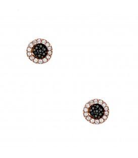Σκουλαρίκια στόχοι ροζ χρυσά