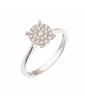 Ring whitegold with diamond