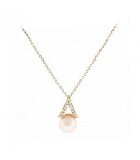 Κρεμαστό τρίγωνο με μαργαριτάρι από ροζ χρυσό