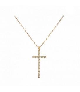 Fashion Γυναικείος βαπτιστικός σταυρός από ροζ χρυσό