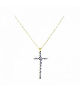 Fashion Γυναικείος βαπτιστικός σταυρός από χρυσό