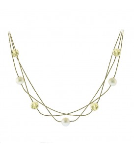 Neckless whitegold and gold